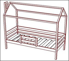 Кровать с подъемным механизмом Майя