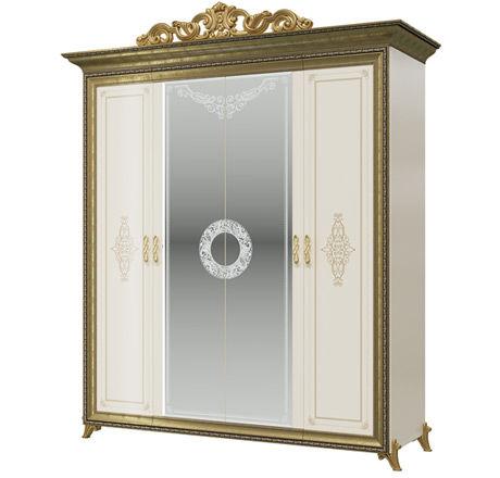 Шкаф 4-х дверный Версаль СВ-01 слоновая кость