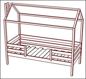Кровать с подъемным механизмом Майя Люкс