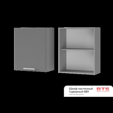Шкаф настенный 1-дверный 6В1 ТВ