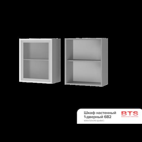 Шкаф настенный 1-дверный со стеклом 6В2 ТВ