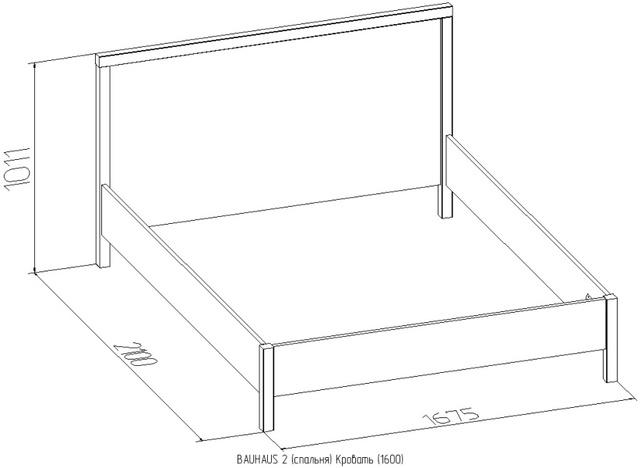 Кровать с ортопедическим основанием Баухаус