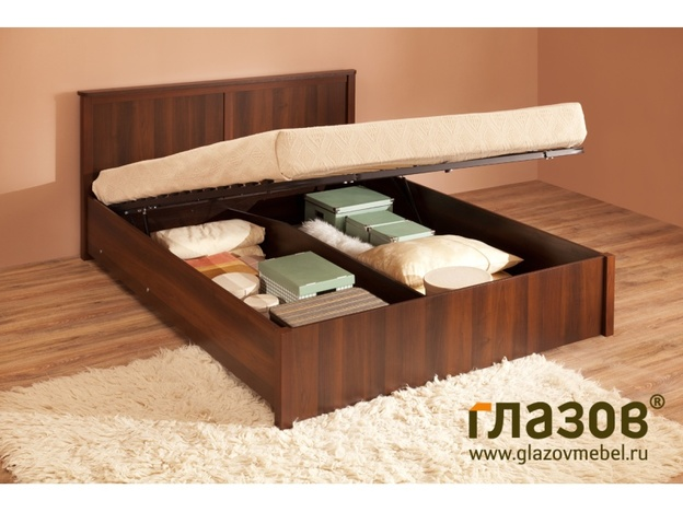 Кровать с подъёмным механизмом Шерлок орех