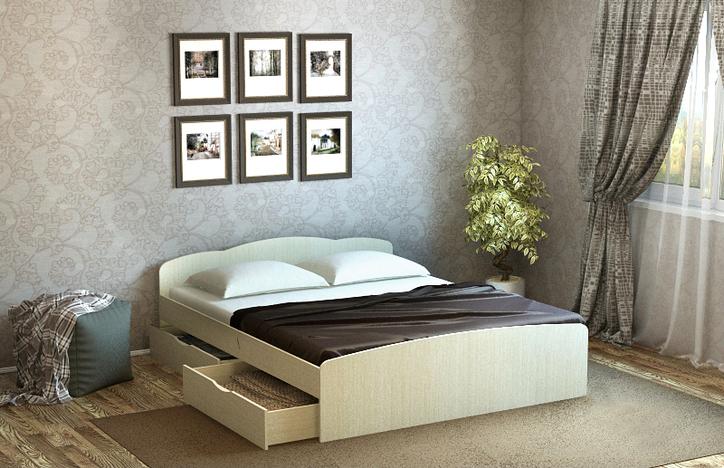 Кровать Ким дуб  белфорт