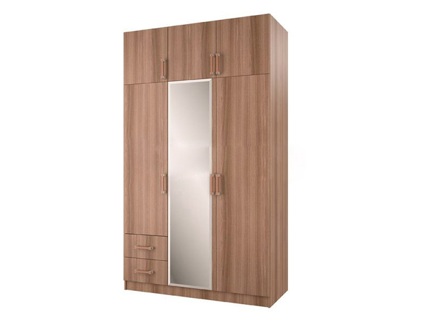 Шкаф 3-створчатый с перегородкой