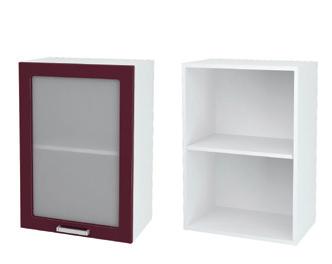Шкаф верхний со стеклом ШВС 500 ДН