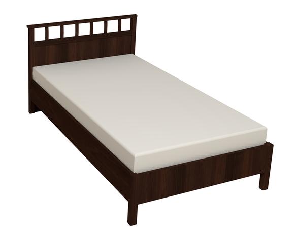 Кровать Люкс 900 с ортопедическим основанием Шерлок орех