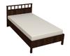 Кровать Люкс 1200 с ортопедическим основанием Шерлок орех