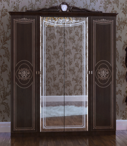 Шкаф 4-х дверный Грация СГ-02 орех