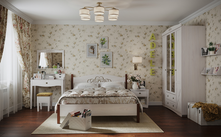 Спальня Адель ясень анкор светлый