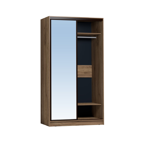 Шкаф-купе Домашний 1200 дуб табачный Craft зеркало