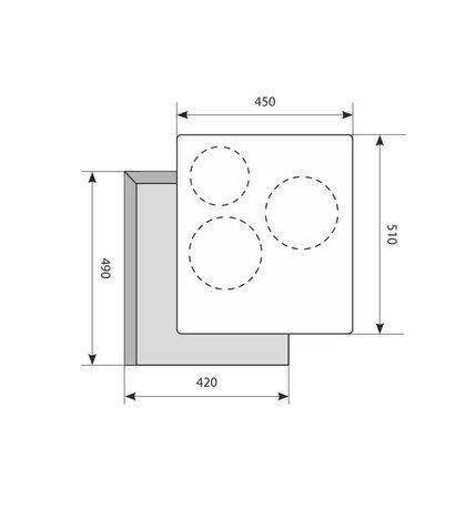 Электрическая варочная панель 450 мм LEX EVH 430 BL
