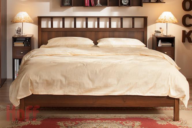 Кровать Люкс 1800 с ортопедическим основанием Шерлок орех