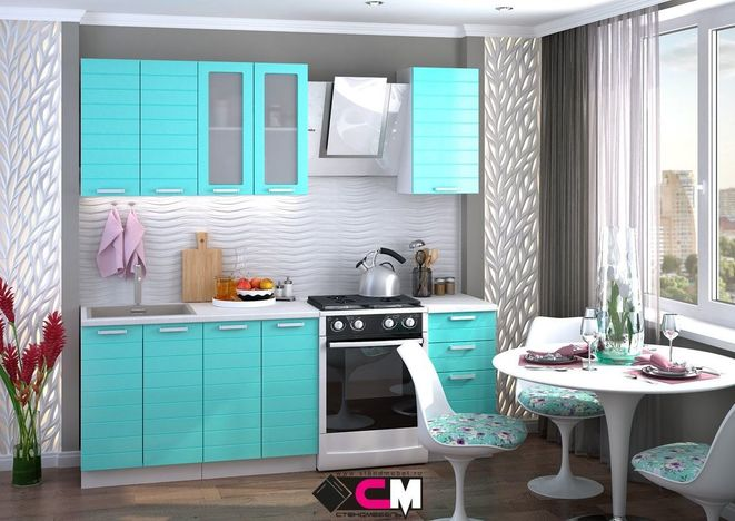 Модульная кухня Линда бирюза