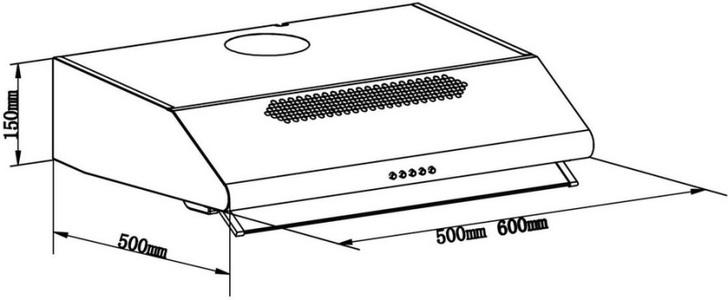 Купольная вытяжка LEX SIMPLE 2M 600 INOX