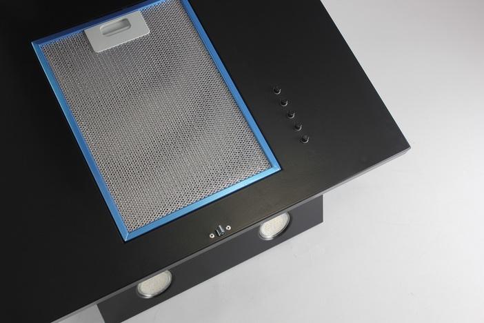 Наклонная кухонная вытяжка LEX POLO 600 BLACK