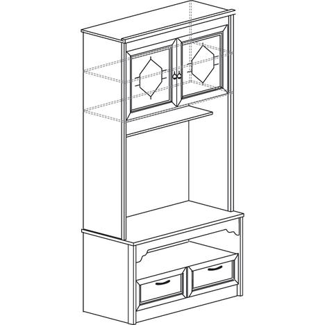 Шкаф для ТВ Флоренция 666 дуб оксфорд