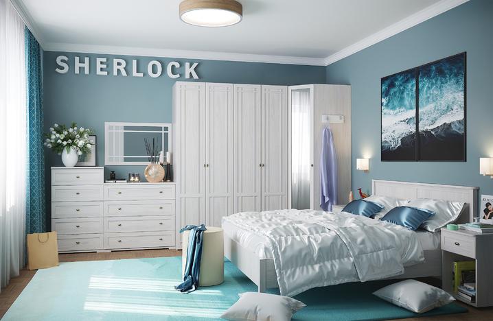 Спальний гарнитур Шерлок ясень светлый